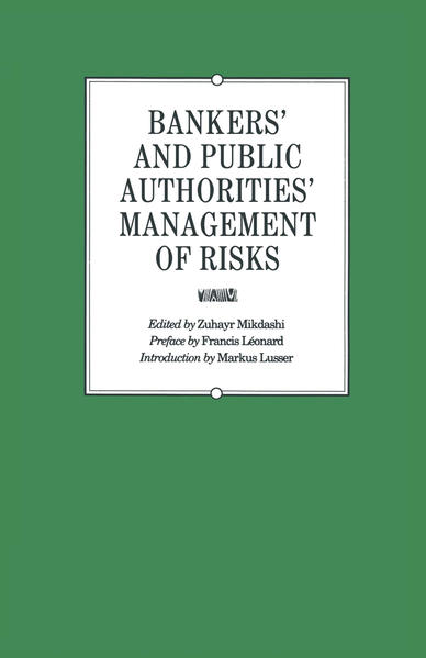 Bankers' and Public Authorities' Management of Risks - Coverbild