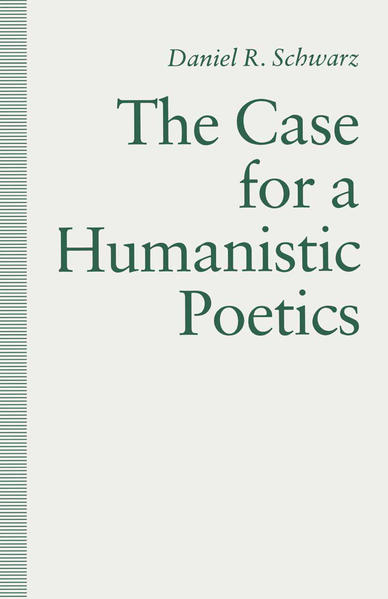 The Case For a Humanistic Poetics - Coverbild