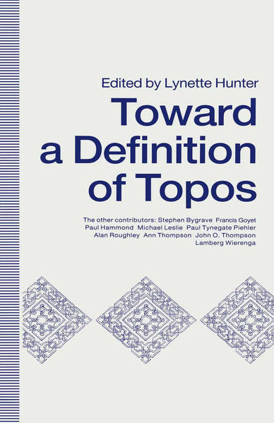 Towards A Definition of Topos - Coverbild