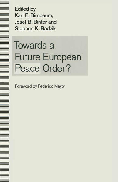 Towards a Future European Peace Order? - Coverbild