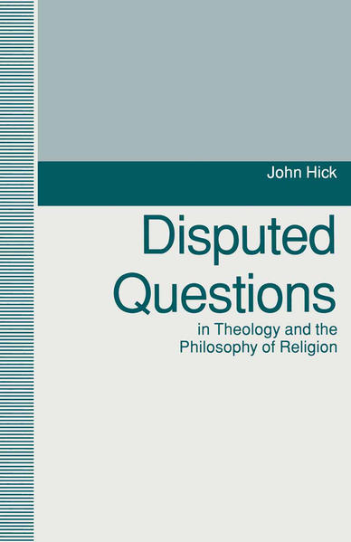 Disputed Questions in Theology and the Philosophy of Religion - Coverbild