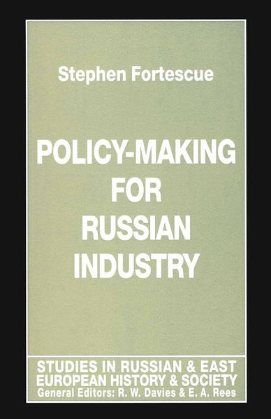 Policy-Making for Russian Industry - Coverbild