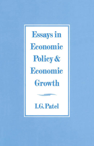 Essays in Economic Policy and Economic Growth - Coverbild