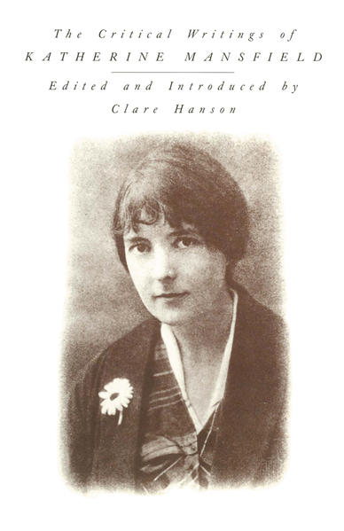 The Critical Writings of Katherine Mansfield - Coverbild