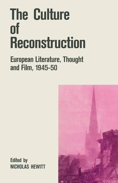 The Culture of Reconstruction - Coverbild