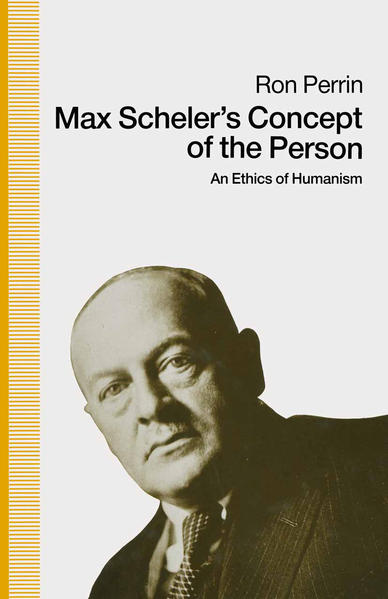 Max Scheler's Concept of the Person - Coverbild