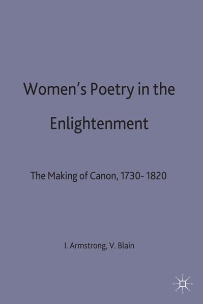 Women's Poetry in the Enlightenment - Coverbild