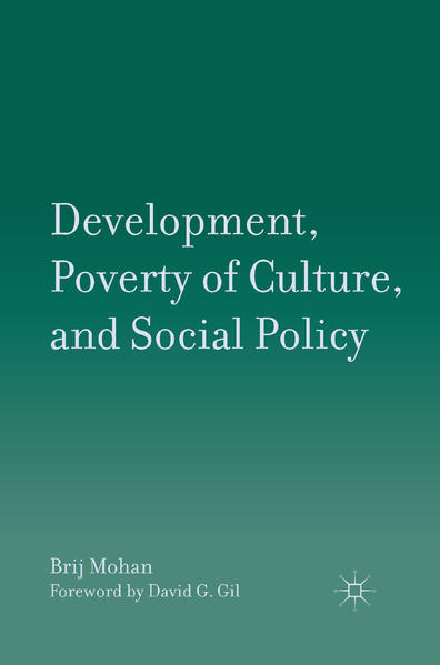 Development, Poverty of Culture, and Social Policy - Coverbild