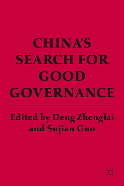 China's Search for Good Governance - Coverbild