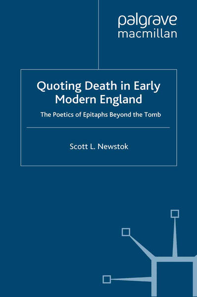 Quoting Death in Early Modern England - Coverbild