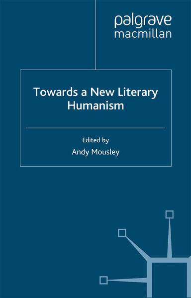 Towards a New Literary Humanism - Coverbild