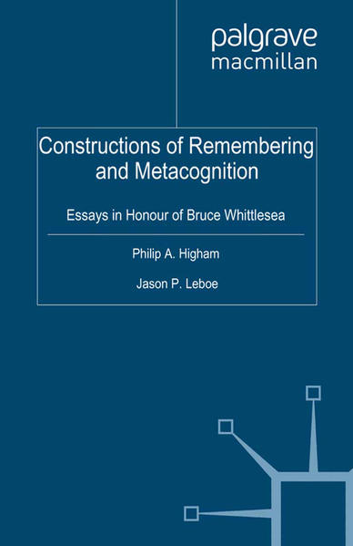 Constructions of Remembering and Metacognition - Coverbild