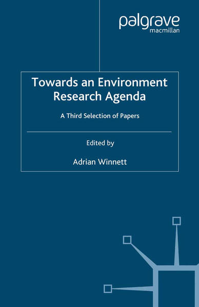 Towards an Environment Research Agenda - Coverbild