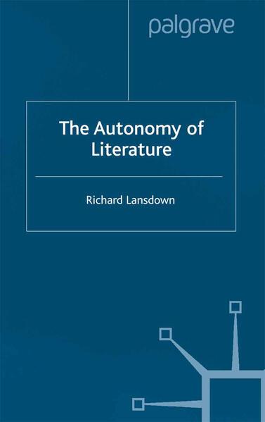 The Autonomy of Literature - Coverbild