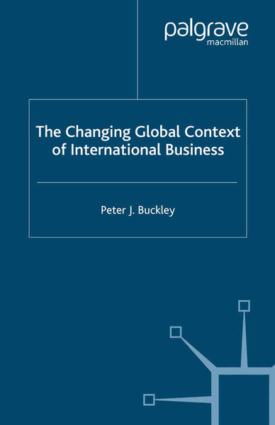 The Changing Global Context of International Business - Coverbild