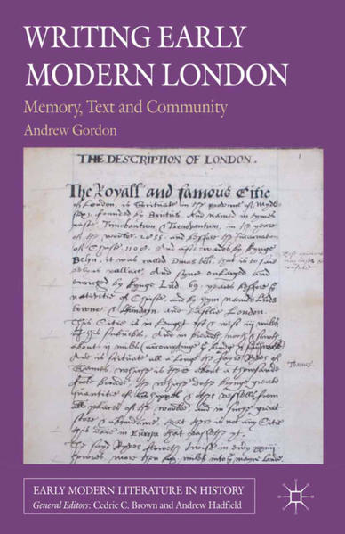 Writing Early Modern London - Coverbild