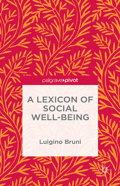 A Lexicon of Social Well-Being - Coverbild