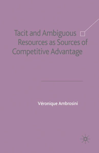 Tacit and Ambiguous Resources as Sources of Competitive Advantage - Coverbild