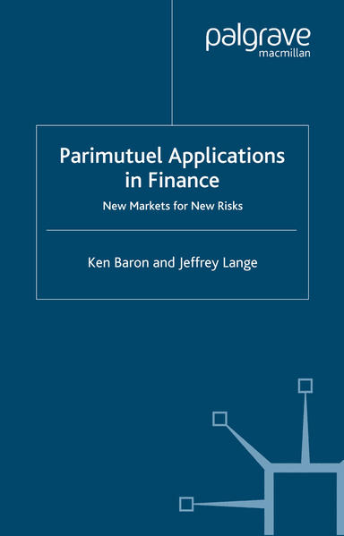 Parimutuel Applications In Finance - Coverbild