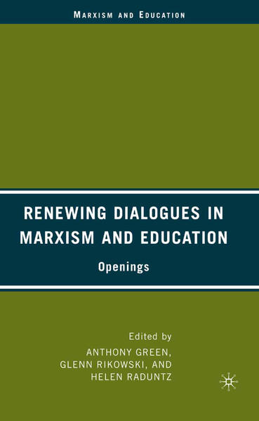 Renewing Dialogues in Marxism and Education - Coverbild
