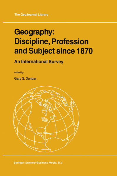 Geography: Discipline, Profession and Subject since 1870 - Coverbild
