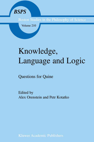 Knowledge, Language and Logic: Questions for Quine - Coverbild
