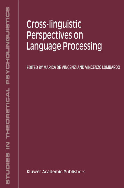 Cross-Linguistic Perspectives on Language Processing - Coverbild