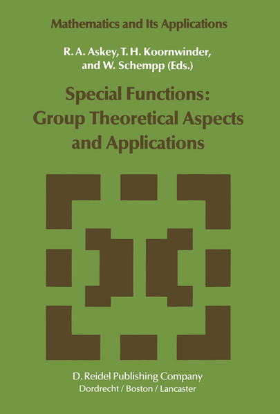 Special Functions: Group Theoretical Aspects and Applications - Coverbild
