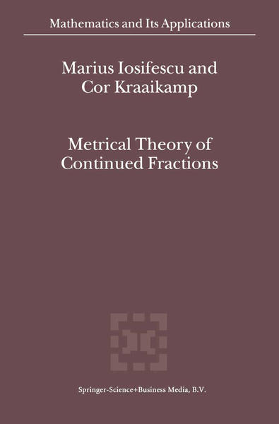 Metrical Theory of Continued Fractions - Coverbild