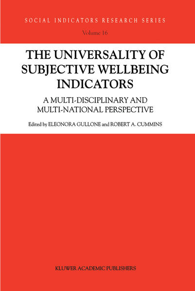 The Universality of Subjective Wellbeing Indicators - Coverbild