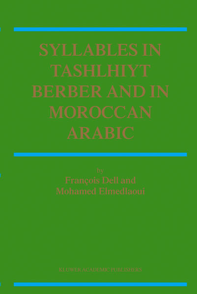 Syllables In Tashlhiyt Berber And In Moroccan Arabic - Coverbild