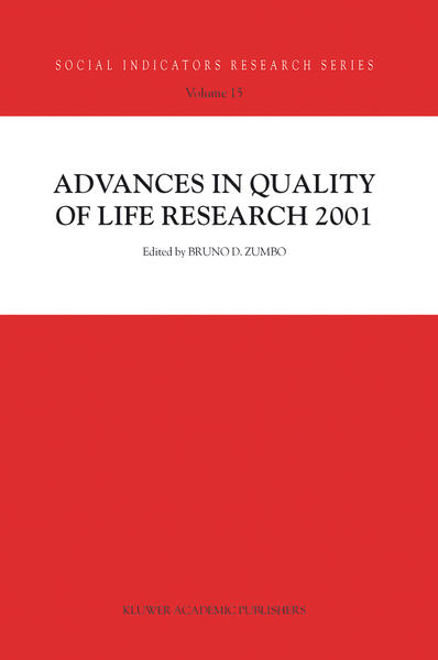 Advances in Quality of Life Research 2001 - Coverbild