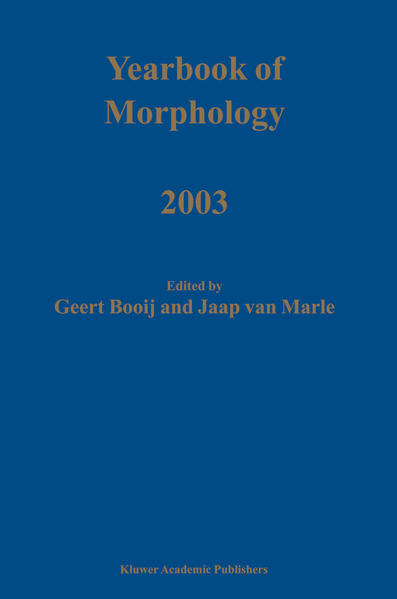 Yearbook of Morphology 2003 - Coverbild