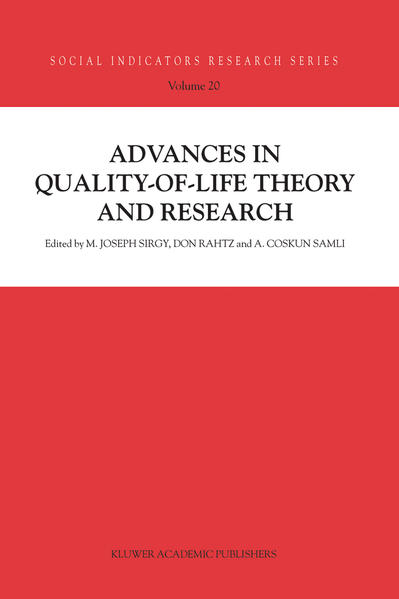 Advances in Quality-of-Life Theory and Research - Coverbild