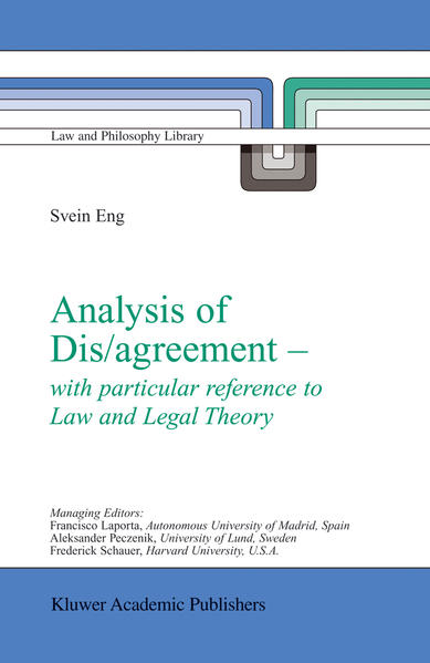 Analysis of Dis/agreement - with particular reference to Law and Legal Theory - Coverbild