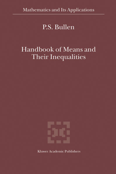 Handbook of Means and Their Inequalities - Coverbild