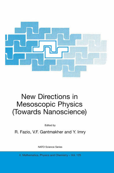 New Directions in Mesoscopic Physics (Towards Nanoscience) - Coverbild