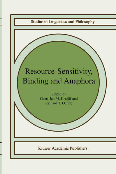 Resource-Sensitivity, Binding and Anaphora - Coverbild