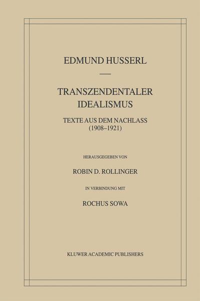 Transzendentaler Idealismus - Coverbild