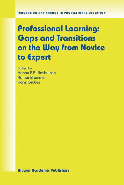 Professional Learning: Gaps and Transitions on the Way from Novice to Expert - Coverbild