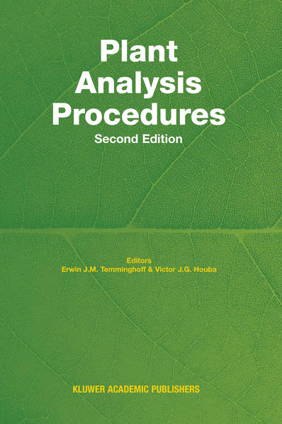 Plant Analysis Procedures - Coverbild