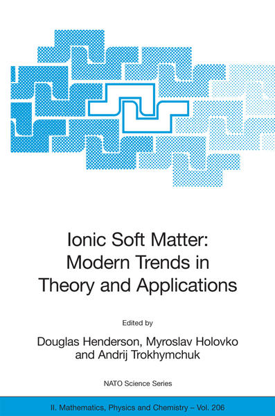 Ionic Soft Matter: Modern Trends in Theory and Applications - Coverbild