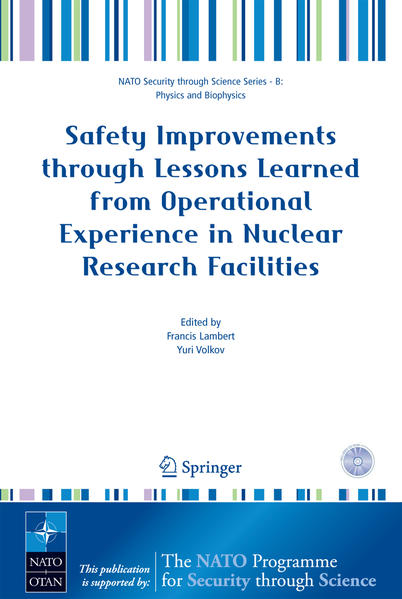 Safety Improvements through Lessons Learned from Operational Experience in Nuclear Research Facilities - Coverbild