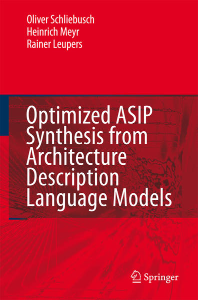 Optimized ASIP Synthesis from Architecture Description Language Models - Coverbild