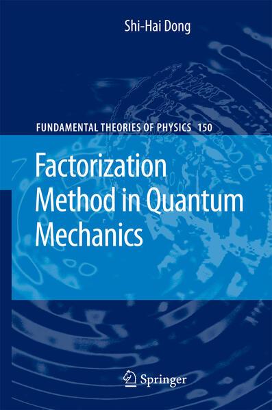 Factorization Method in Quantum Mechanics - Coverbild