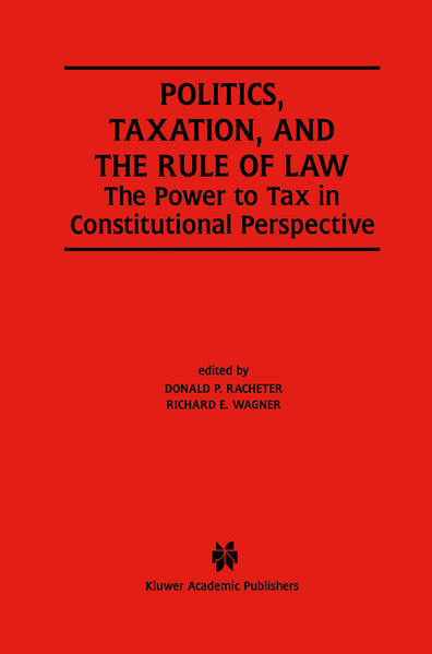 Politics, Taxation, and the Rule of Law - Coverbild