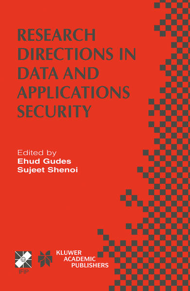 Research Directions in Data and Applications Security - Coverbild