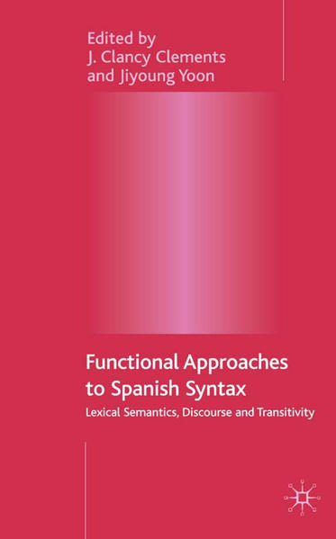 Functional Approaches to Spanish Syntax - Coverbild