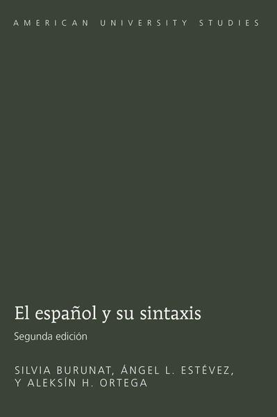 El español y su sintaxis - Coverbild