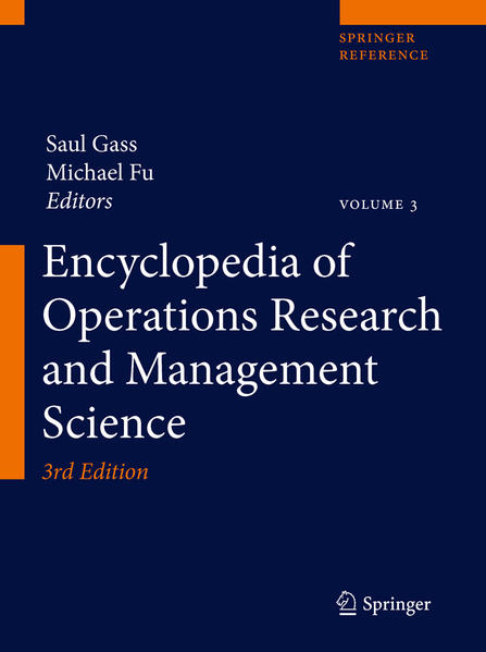 Encyclopedia of Operations Research and Management Science - Coverbild